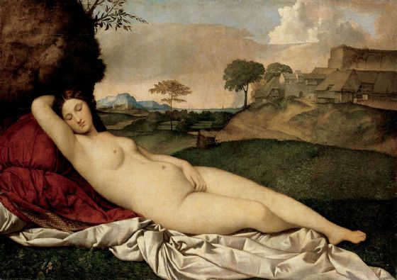 Giorgione, Giorgio da Castelfranco: The Sleeping Venus. Nude/Roman and Greek Mythology Fine Art Print/Poster. Sizes: A4/A3/A2/A1 (001931)
